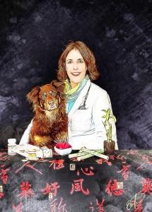 portrait-veterinarian-leslie-jones-gorgeous-dog-australian-shepard-painting